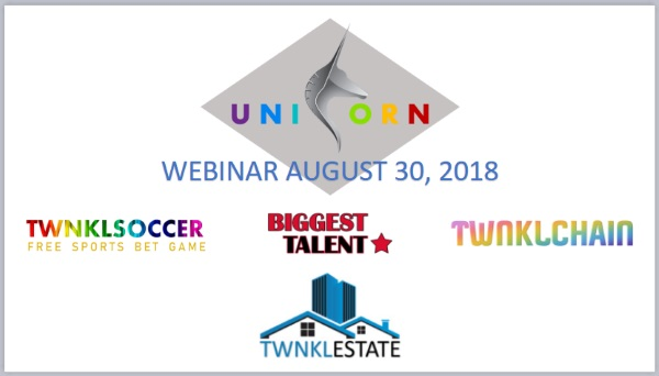 August 30, 2018 Unicorn Network webinar